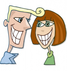 happy couple in love smiling vector image