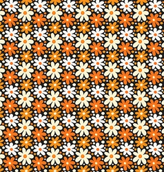 Seamless pattern with decorative daisy flowers vector