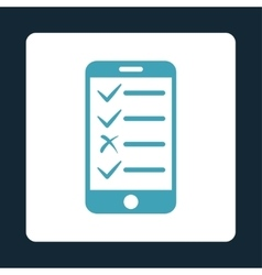 Mobile tasks icon from commerce buttons overcolor vector