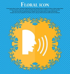 Talking flat modern web icon floral flat design on vector