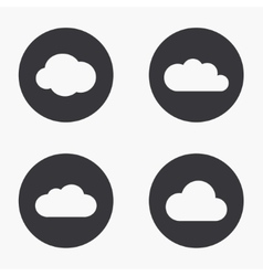 Modern cloud icons set vector