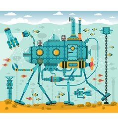 Underwater machine vector