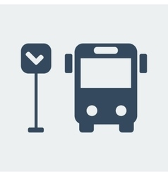 Bus icon 1 vector