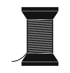 Thread bobbin icon vector