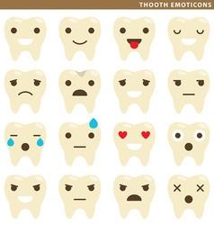Tooth emoticons vector