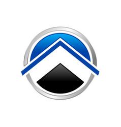 abstract property up circle symbol logo design vector image