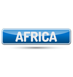 Africa - abstract beautiful button with text vector