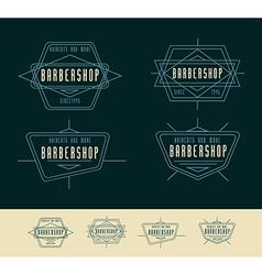 Barber shop logo vintage logo design vector