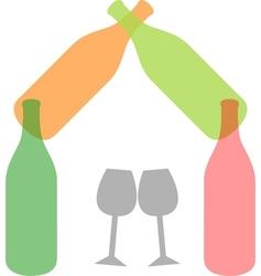 Beverage logo vector image vector image