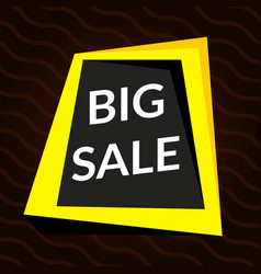 Big sale yellow banner vector