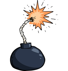 broken winded bomb vector image