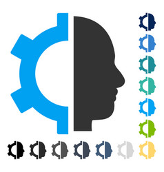 Cyborg gear icon vector