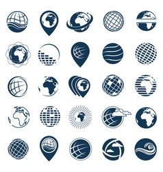 Earth logo set vector
