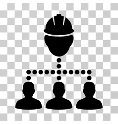 Engineer staff relations icon vector