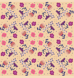 floral background pattern vector image