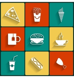 Food Flat Icons vector image vector image