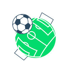 Football soccer ball icon vector