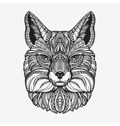 Fox animal decorated with ethnic patterns vector