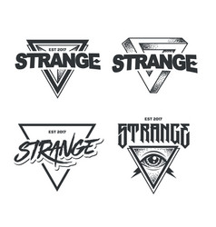 Hipster emblems set vector