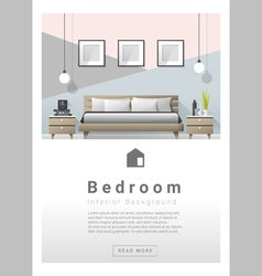 Interior design Modern bedroom banner 2 vector image vector image