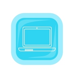 Laptop Square Icon vector image vector image
