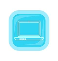 Laptop square icon vector