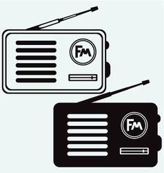 Old radio receiver vector image vector image