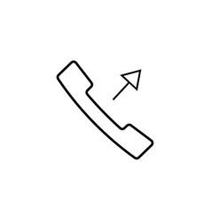 outgoing call icon vector image