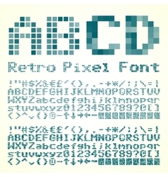 Pixel font vector