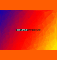polygonal red orange blue background rainbow vector image