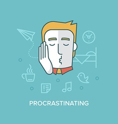 Procrastinating vector