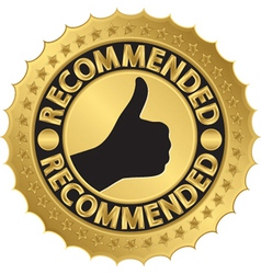 Recommended golden label vector image vector image
