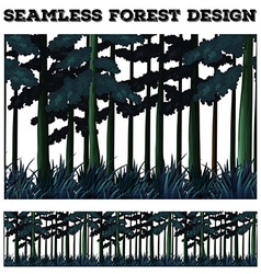 Seamless green forest design vector