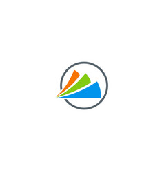 shape loop colored business logo vector image