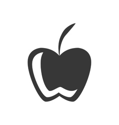silhouette fruit apple graphic icon vector image
