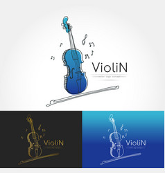 Stylized image of violin vector