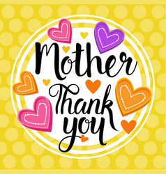 Thank you mom happy mother day spring holiday vector