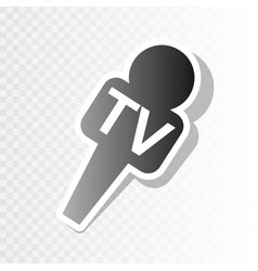 Tv microphone sign new year vector