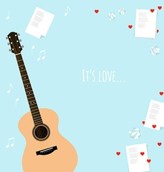 Valentines day template cards with serenade vector image