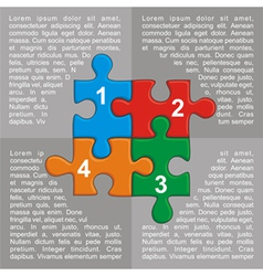 with puzzle and place for your text vector image vector image
