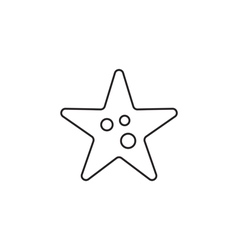 Starfish icon outline vector