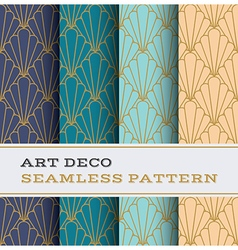 Art deco seamless pattern 11 vector