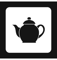 Black kettle icon simple style vector