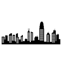 Hong kong skyline vector