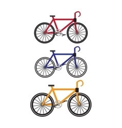 Bikes in flat design vector