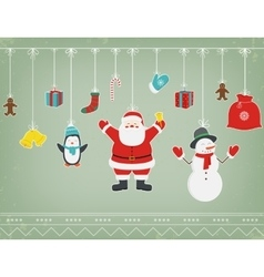 Christmas composition with funny christmas vector
