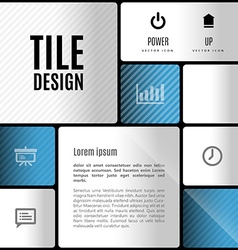 Business tile design design elements for flyers vector