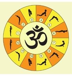 Yoga exercise sun vector