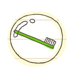 A toothbrush in the bubble vector