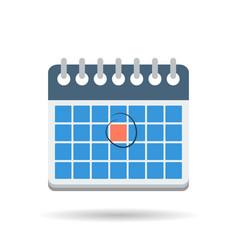Flat month calendar icon vector